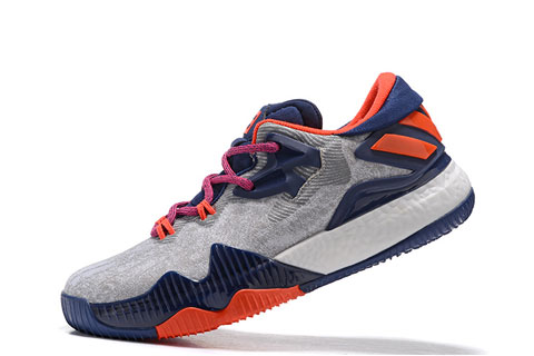 check out fdbf7 b38a5 Adidas Crazylight Boost Low Heren Sneakers – GrijsBlauwOranje