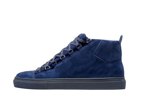 Balenciaga Arena Suede Heren Sneakers Donkerblauw