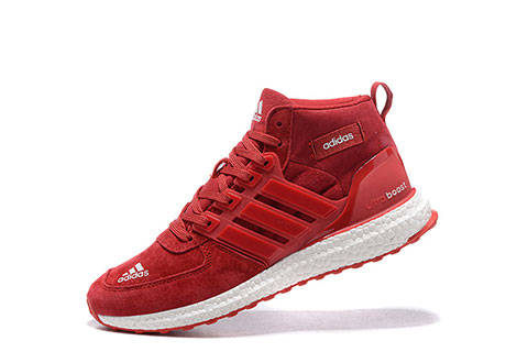 Adidas Ultra Boost Heren Sneakers Mid RoodWit