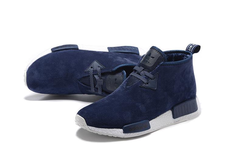 Adidas NMD Chukka Heren Sneakers DonkerblauwWit