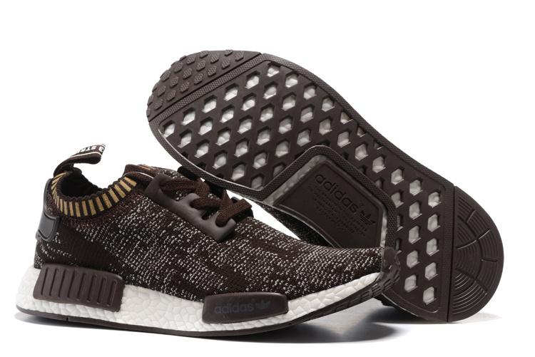 Adidas NMD R1 Primeknit Heren Sneakers - Bruin/Wit