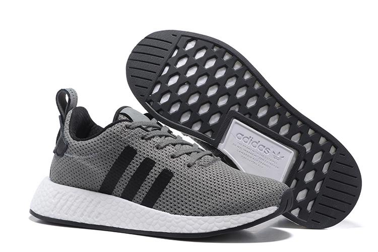 Adidas Originals NMD R2 Heren Sneakers - Grijs/Zwart/Wit