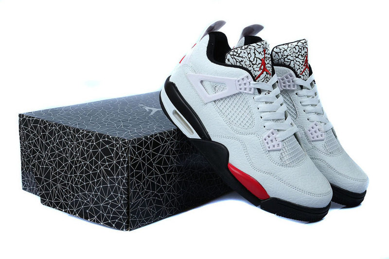 newest 6c485 6fb25 Nike Air Jordan Retro 4 Heren Sneakers - Wit/Rood/Zwart @ Sneaker Stad
