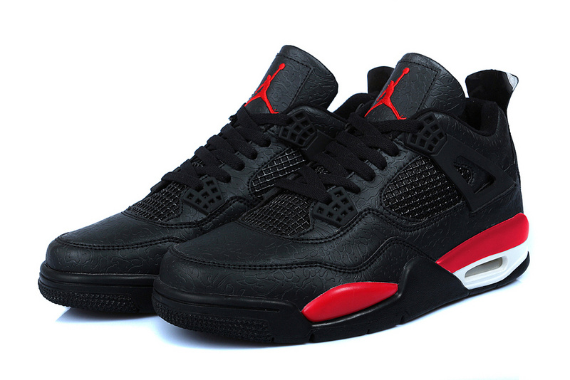 Nike Air Jordan Retro 4 Heren Sneakers - Zwart/Rood/Wit @ Sneaker Stad