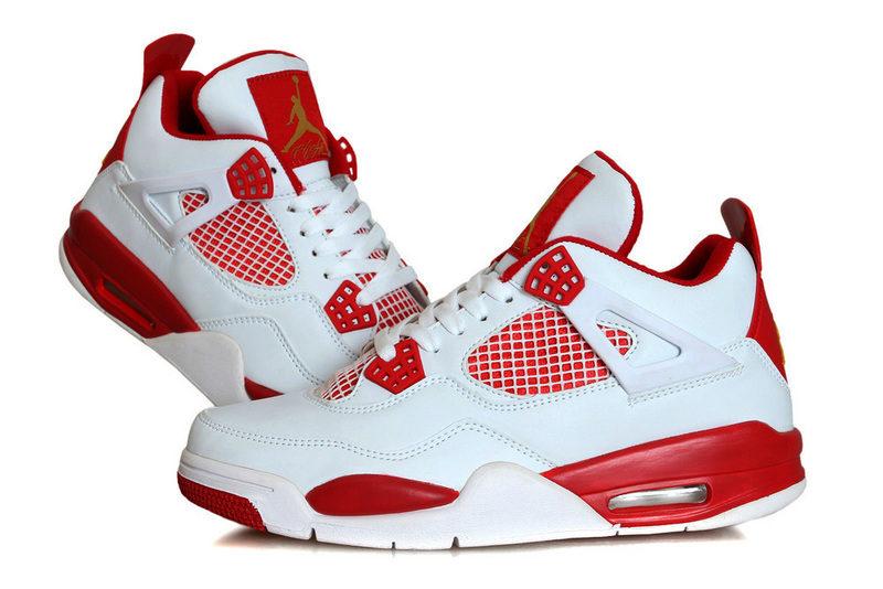Nike Air Jordan Retro 4 Jongens Sneakers WitRood