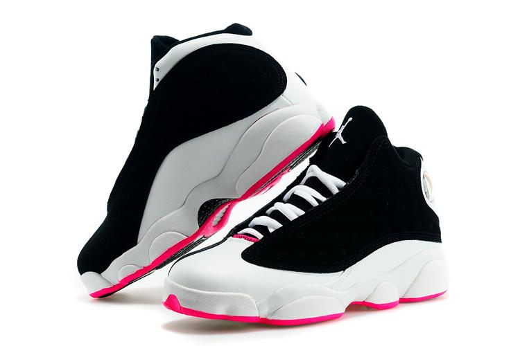 Nike Air Jordan Retro 13 Dames Sneakers - Zwart/Wit/Roze @ Sneaker Stad