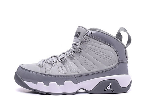 Nike Air Jordan Retro IX 9 Dames Sneakers GrijsWit