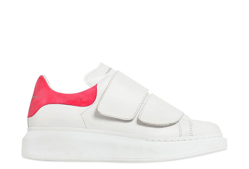 Mcqueen Oversized Dames Sneakers Klittenband Witroze Alexander HWED9I2