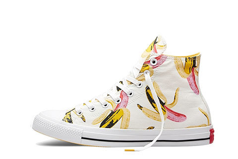 caba50cebee Converse All Star Andy Warhol Hoge Dames Sneakers – Wit/Roze/Geel