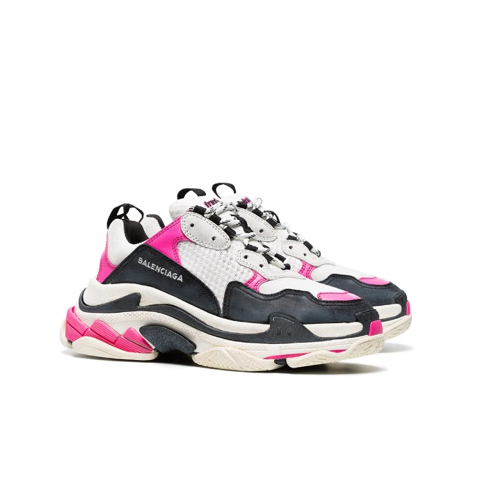 Balenciaga Triple S with air bubble clear sole trainers gray