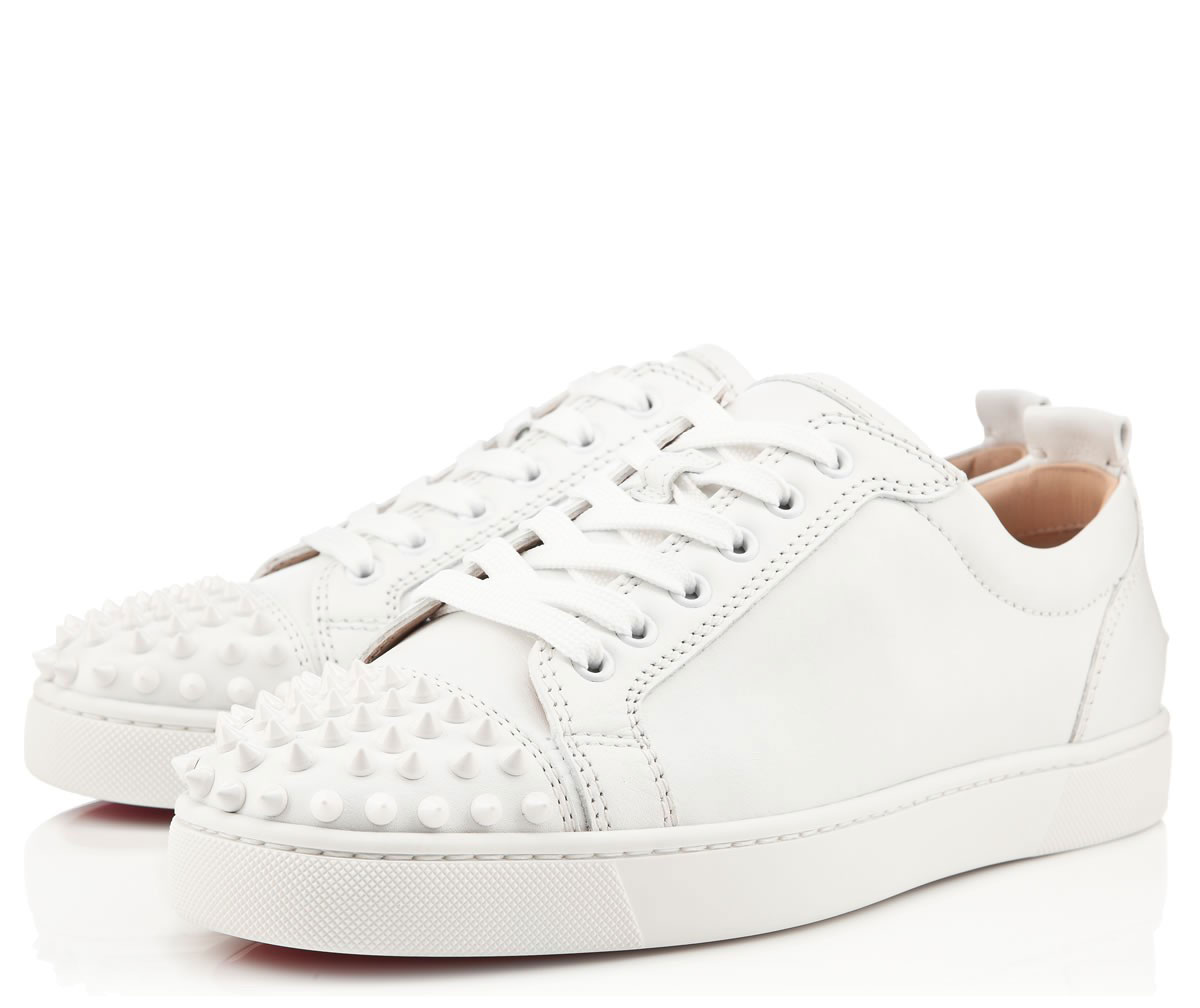 timeless design 9d5f8 1dd74 Christian Louboutin Louis Junior Spikes Heren Sneakers - Wit @ Sneakerstad