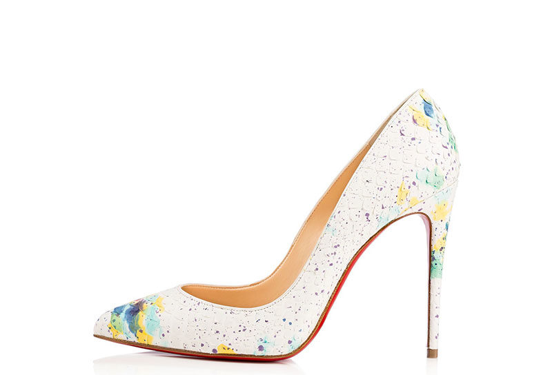 release date 3070a 3752f Christian Louboutin Pigalle Follies Dames Pumps - Wit/Geel/Blauw