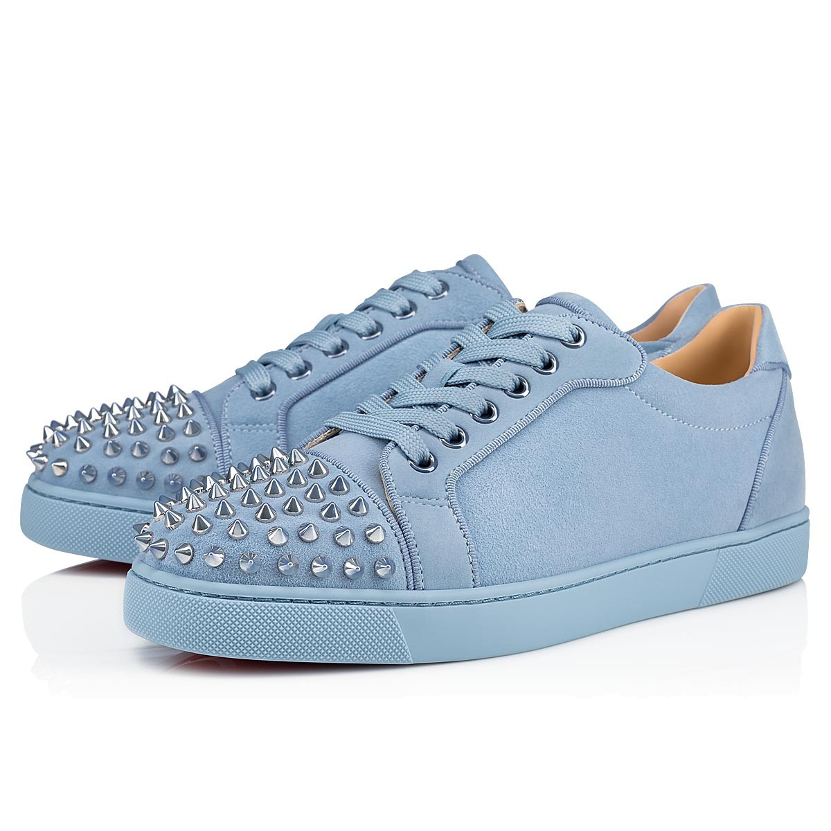 newest collection 90f27 a2c9f Christian Louboutin Vieira Spikes Orlato Dames Sneakers - Blauw in  SneakerStad