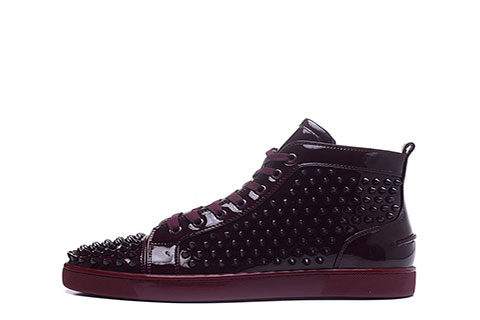 the best attitude 04b18 8ef46 Christian Louboutin Spike Unisex Sneakers - Bordeauxrood ...