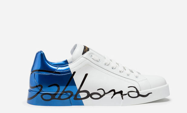 18112d1bf78 Dolce & Gabanna Portofino Unisex Sneakers - Wit/Blauw/Zwart in ...
