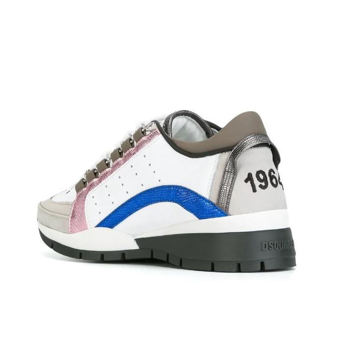 bc74d6b2974 Dsquared2 551 Dames Sneakers - Wit/Blauw/Roze/Zwart @ SneakerStad
