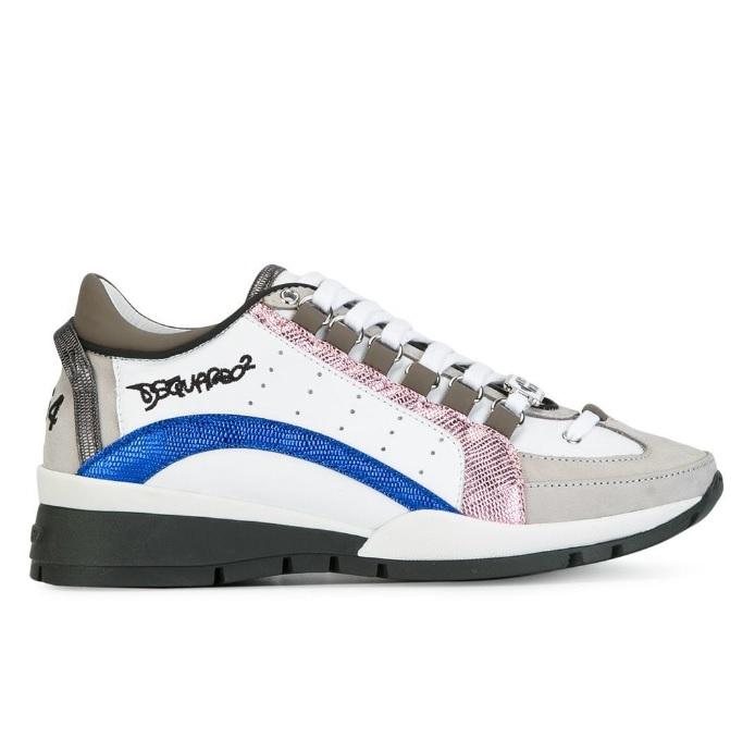 8cbc4c1af86 Dsquared2 551 Dames Sneakers - Wit/Blauw/Roze/Zwart @ SneakerStad
