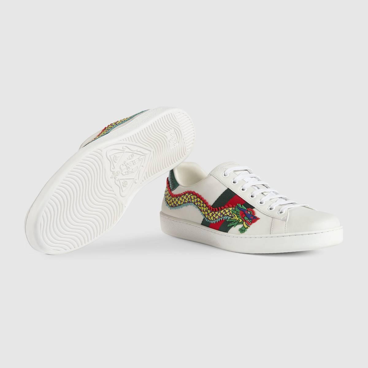 274ba6d15bf Gucci ace draak heren sneakers wit/groen - Vind je in Sneakerstad