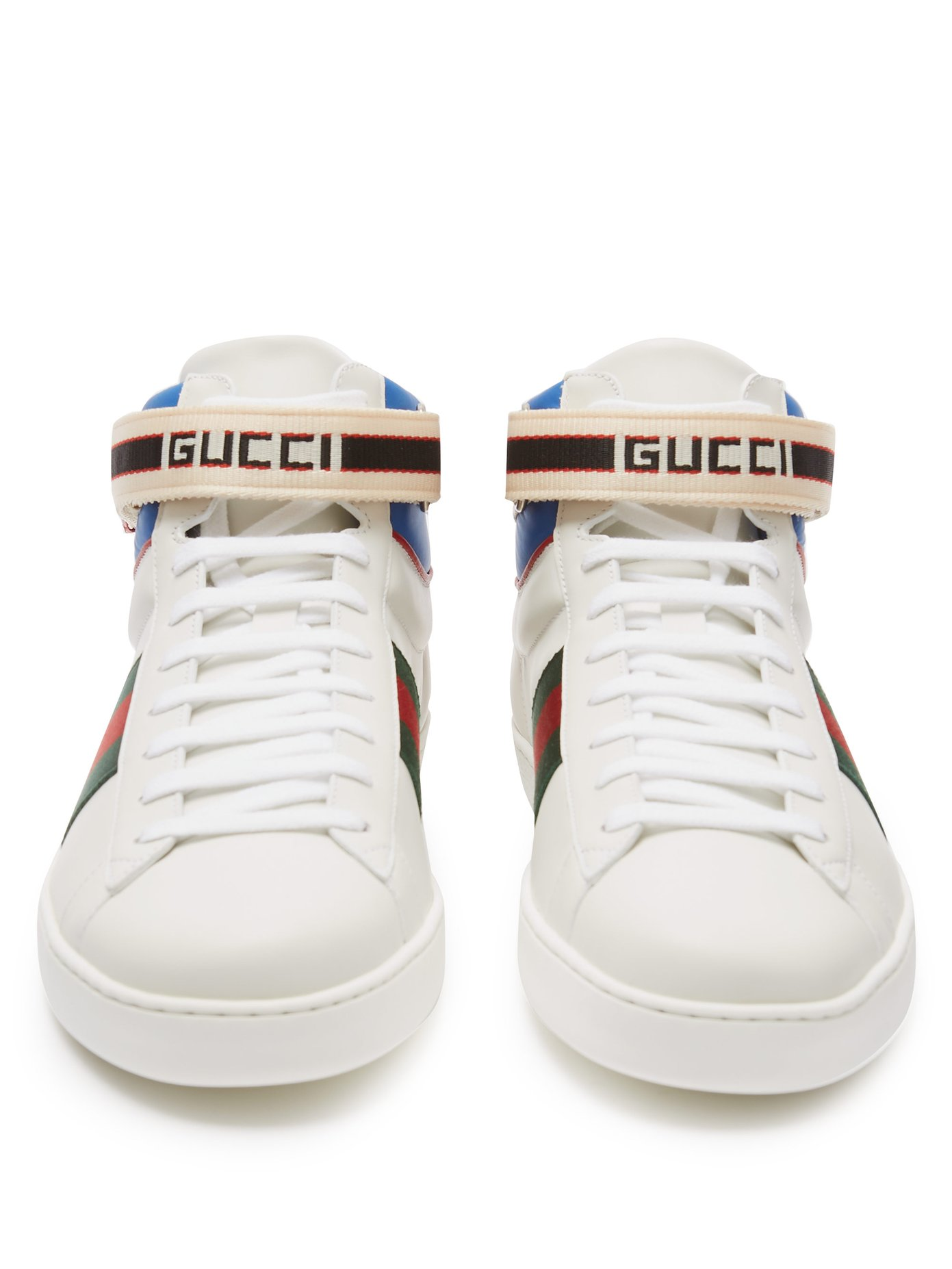 c7823bb283d Gucci New Ace Trainers Unisex Sneakers – Wit/Blauw/Groen/Rood