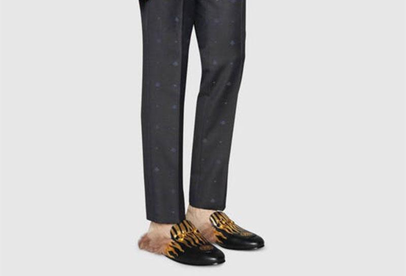 f584c41ed75 Gucci Princetown Tijger Heren Slippers - Zwart/Goud in SneakerStad