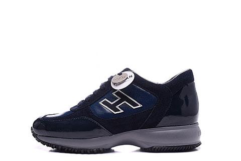 4d8cfd57279 Hogan Dames sneakers Lak Donkerblauw/Grijs