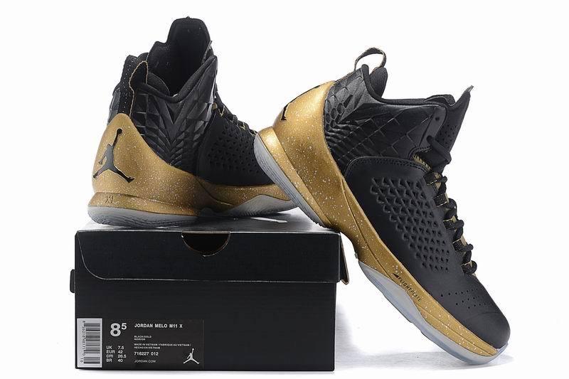 Nike Air Jordan Melo M11 Kinder Sneakers ZwartGoud