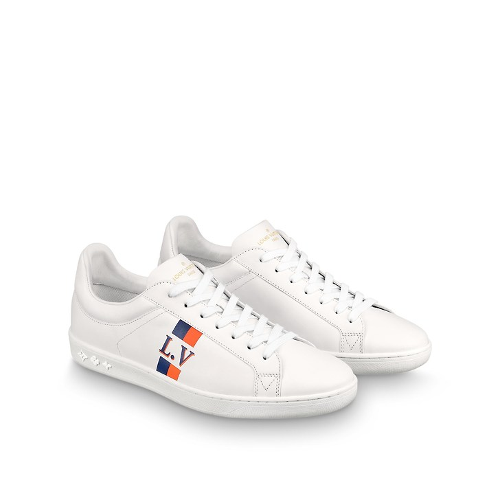 Betere Louis Vuitton luxembourg heren sneakers wit/oranje - Vind je in JJ-09