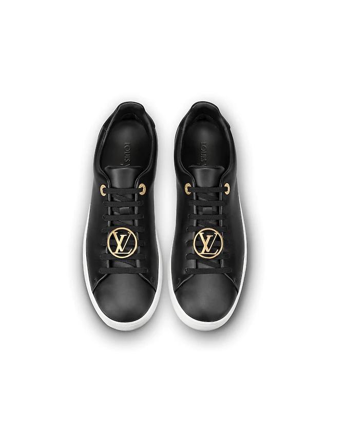 08647474dbaf Louis Vuitton Frontrow Dames Sneakers - Zwart Wit Goud   SneakerStad
