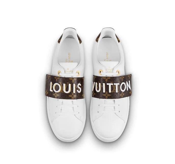 80ceb0de3df Louis Vuitton Frontrow Dames Sneakers - Wit/Bruin/Goud @ SneakerStad