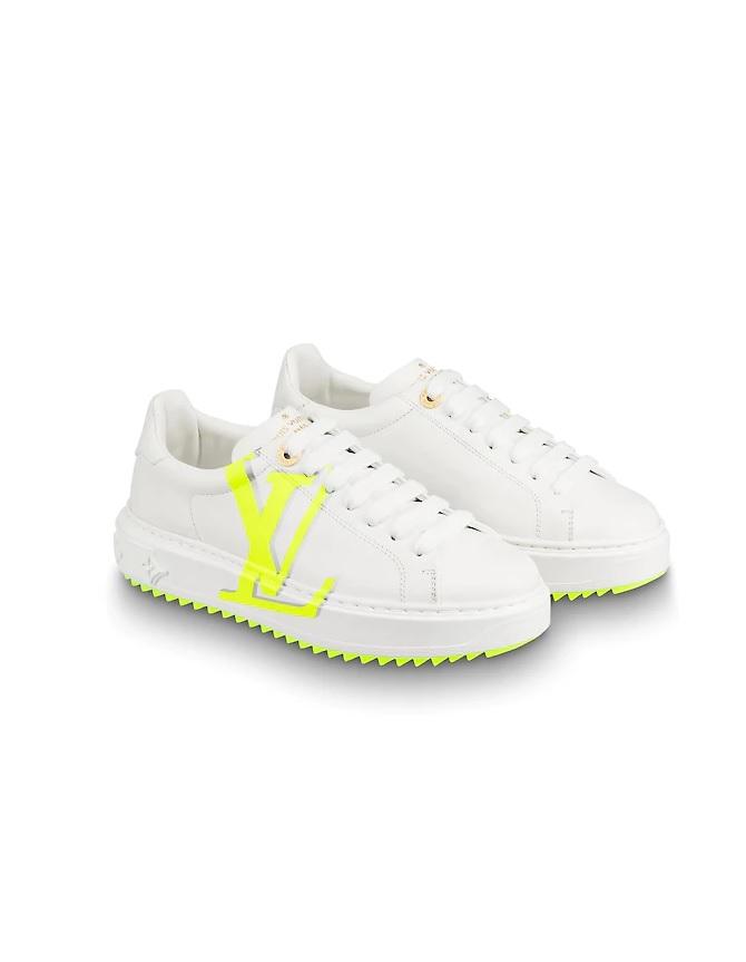 ba2d09b304 Louis Vuitton Time Out Dames Sneakers - Wit/Geel @ SneakerStad