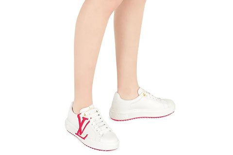 036f283f0c Louis Vuitton Time Out Dames Sneakers - Wit/Roze
