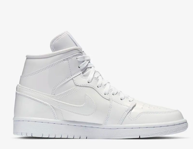 Nike air jordan 1 mid dames sneakers wit