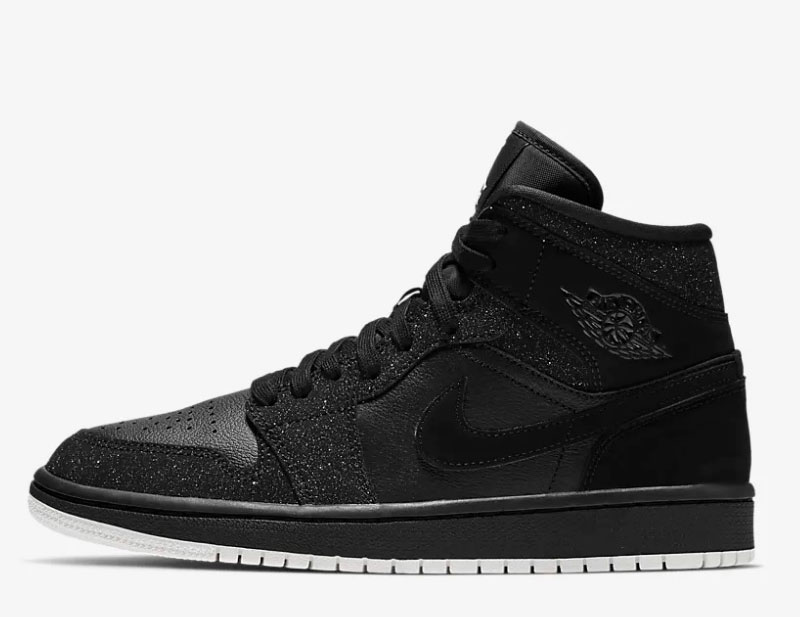 Nike air jordan 1 mid dames sneakers zwart/wit