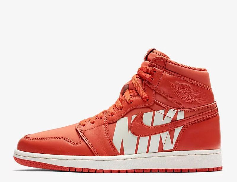 Nike air jordan 1 retro og sneakers oranje/wit