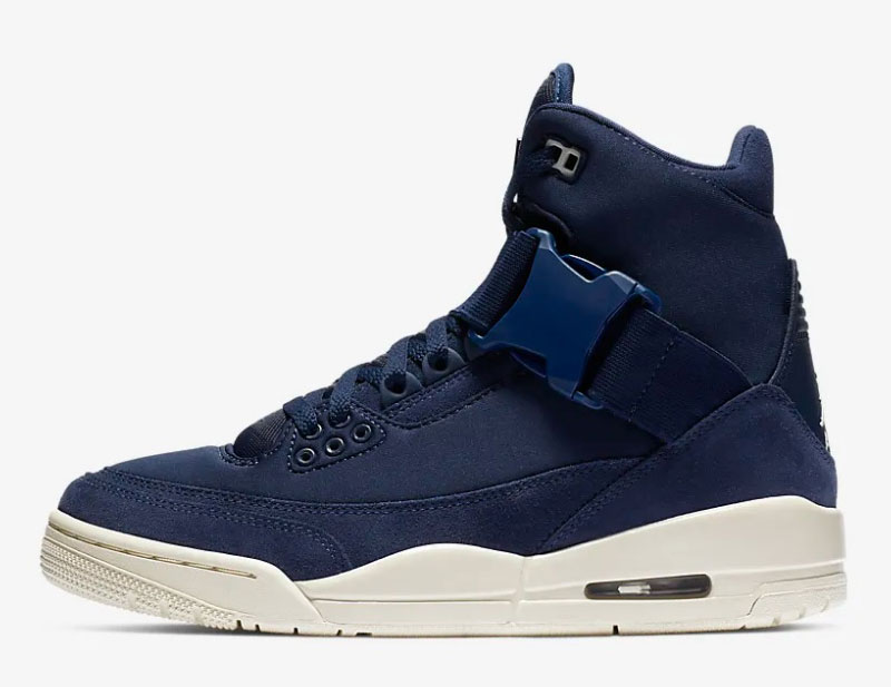 Nike air jordan 3 retro explorer xx dames sneakers blauw/wit