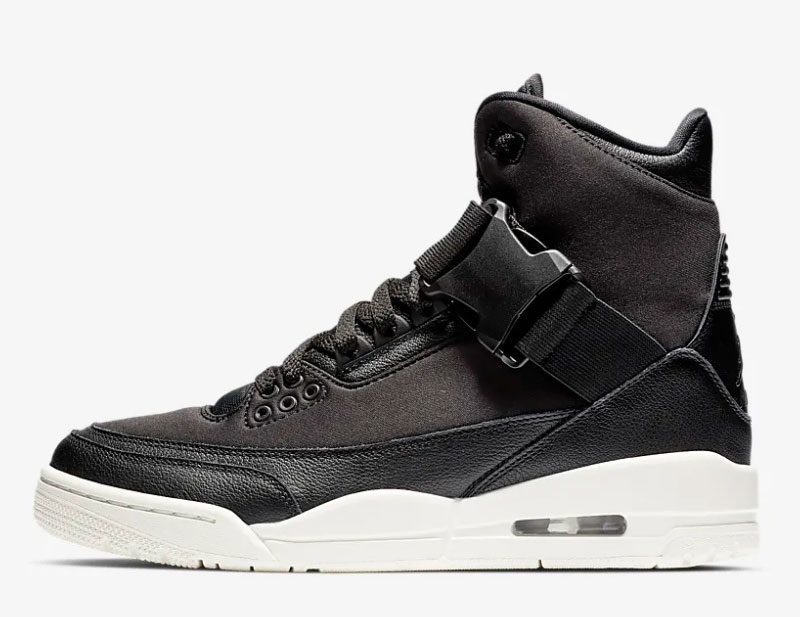 Nike air jordan 3 retro explorer xx dames sneakers zwart/wit