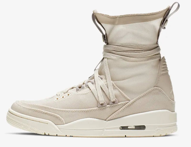 Nike air jordan 3 retro explorer lite xx dames sneakers beige/wit