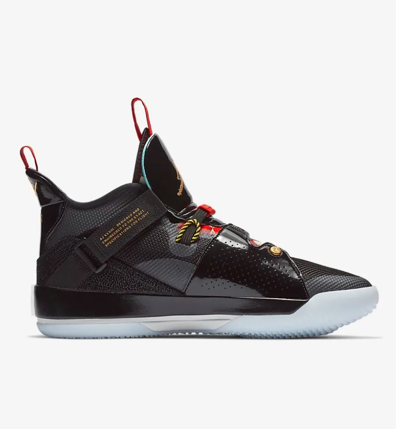 Nike air jordan XXXIII basketbal heren sneakers zwartrood