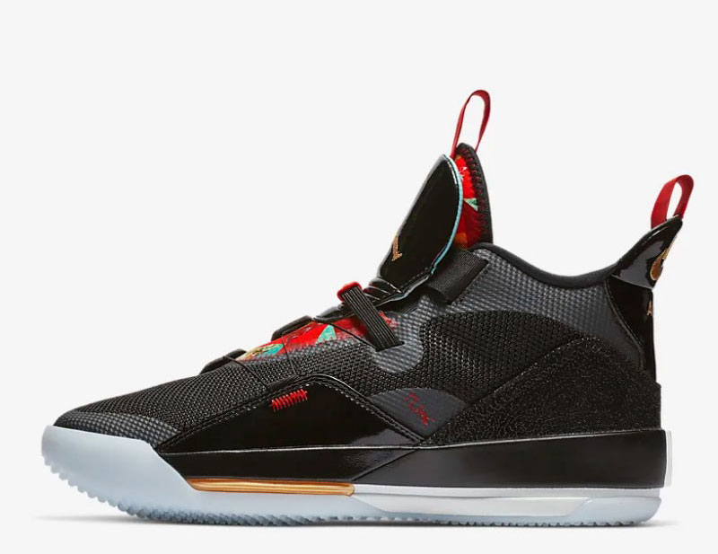 Nike air jordan XXXIII basketbal heren sneakers zwart vind je in Sneakerstad