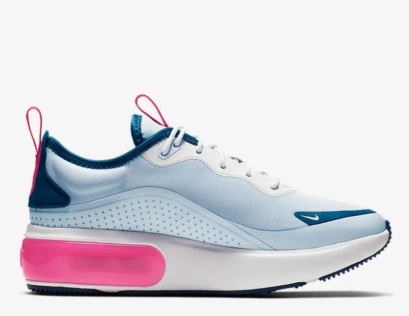 Nike air max dia dames sneakers wit/blauw