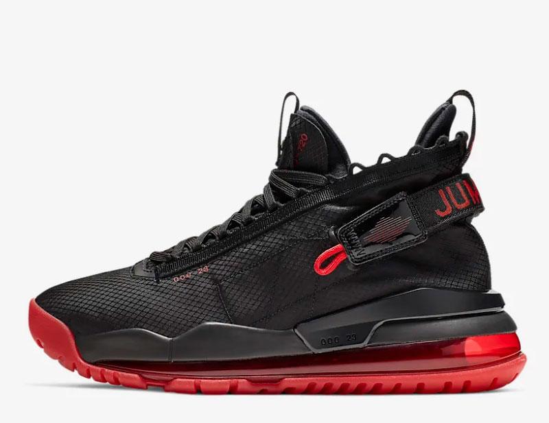 Nike air jordan proto max 720 heren sneakers zwart/rood