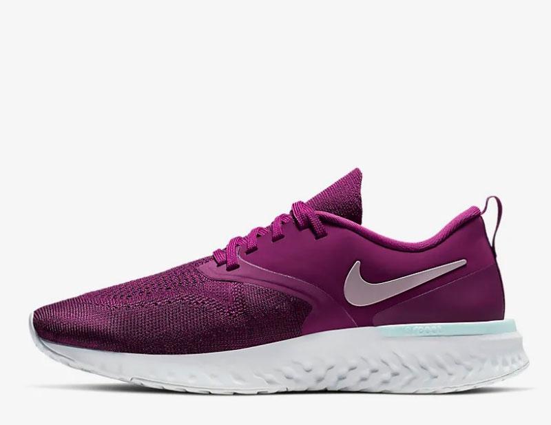 Nike odyssey epic react flyknit 2 dames sneakers paarswit