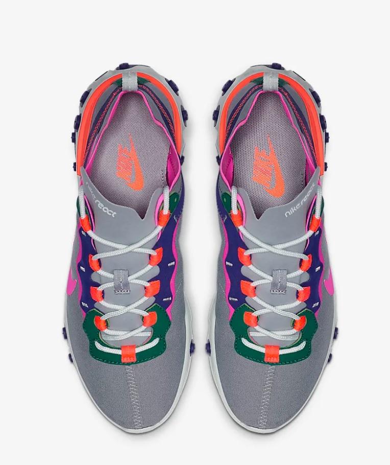 2dbdebb33c9 Nike react element 55 dames sneakers grijs/wit vind je in Sneakerstad