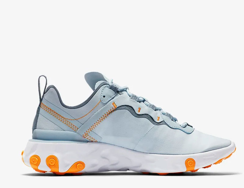 Nike react element 55 dames sneakers grijswit 01