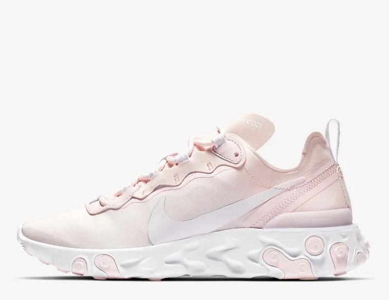 607fa410f0b Nike react element 55 dames sneakers roze/wit vind je in Sneakerstad