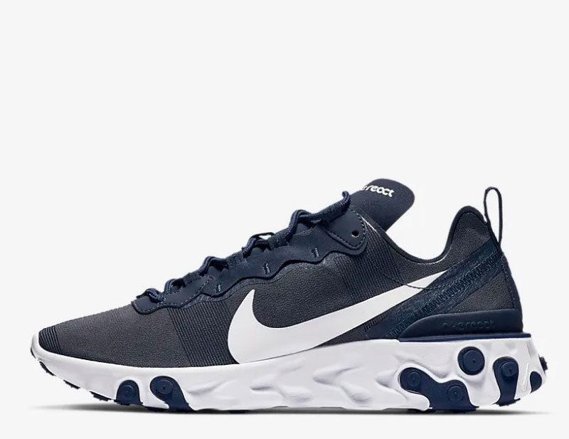 8d754d3fa7c Nike react element 55 heren sneakers donkerblauw/wit vind je in ...