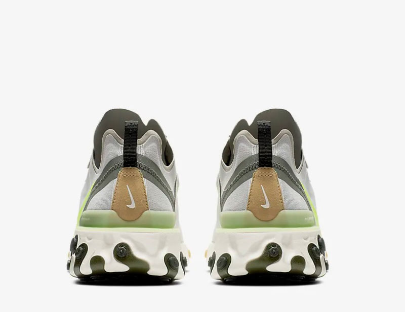46f8df1fc69 Nike react element 55 heren sneakers grijs/groen vind je in Sneakerstad