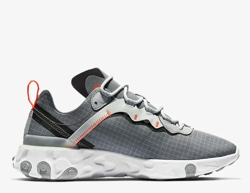 b687406e9d9 Nike react element 55 heren sneakers grijs/wit vind je in Sneakerstad