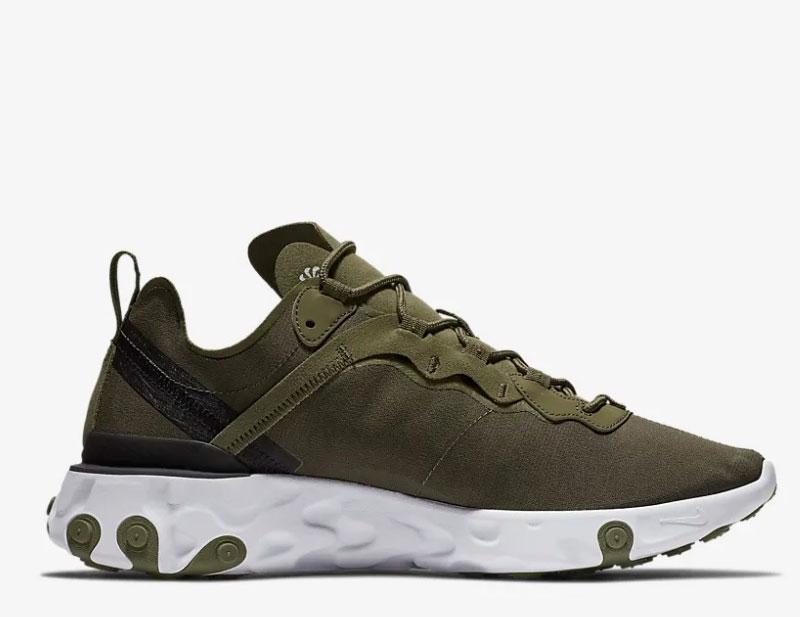 1f0a8916bc0 Nike react element 55 heren sneakers groen/wit vind je in Sneakerstad