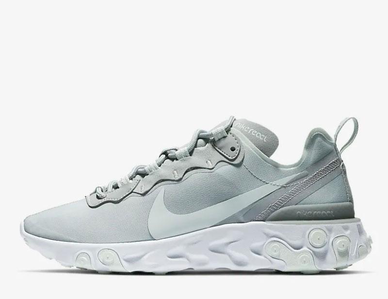 39ff78bd01c Nike react element 55 sneakers grijs/wit vind je in Sneakerstad